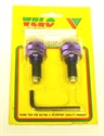 Picture of HANDLEBAR END WEIGHT - PURPLE TO SUIT RENTHAL HANDLEBARS