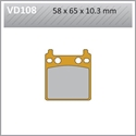 Picture of VD108 VESRAH DISC BRAKE PADS