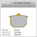 Picture of VD112/2 VESRAH DISC BRAKE PADS