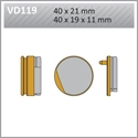 Picture of VD119 VESRAH DISC BRAKE PADS