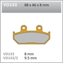 Picture of VD143 VESRAH DISC BRAKE PADS