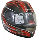 Picture of DUCHINNI D701 - 64 (XXL)  RED/SILVER FULL FACE HELMET