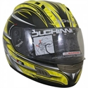 Picture of DUCHINNI D701 - 64 (XXL)  YELLOW/SILVER FULL FACE HELMET