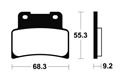 Picture of MRR344 BENDIX SINTERED RACING DISC BRAKE PADS