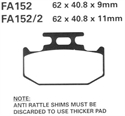 Picture of FA151 - EBC DISC BRAKE PADS ***LOOK FOR CARBON LORRAINE***