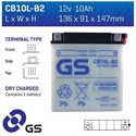Picture of CB10LB2 GS BATTERY